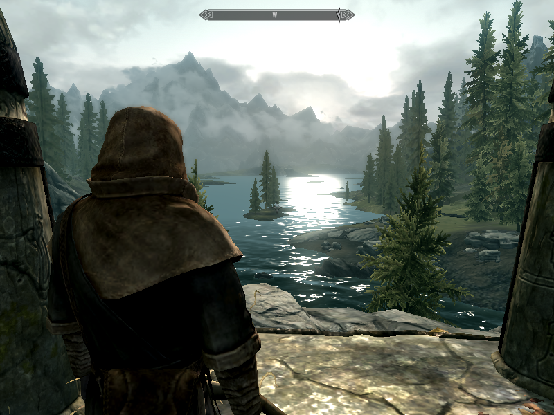 Skyrim low texture screenshot