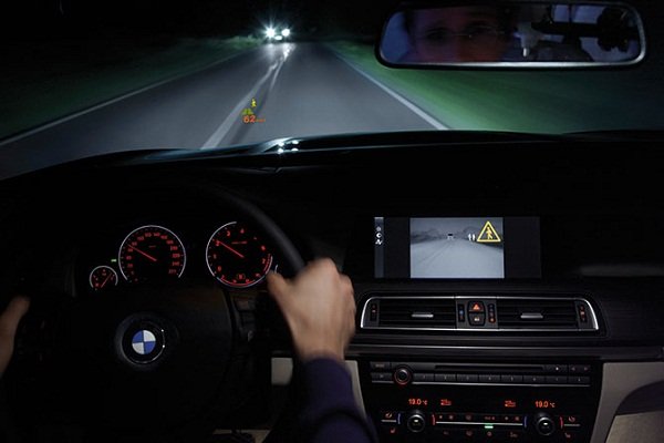 BMW night vision system