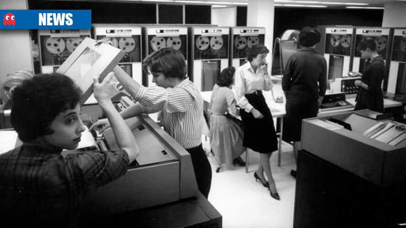 Female workers at IBM