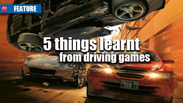 5 thingsl learnt from driving games