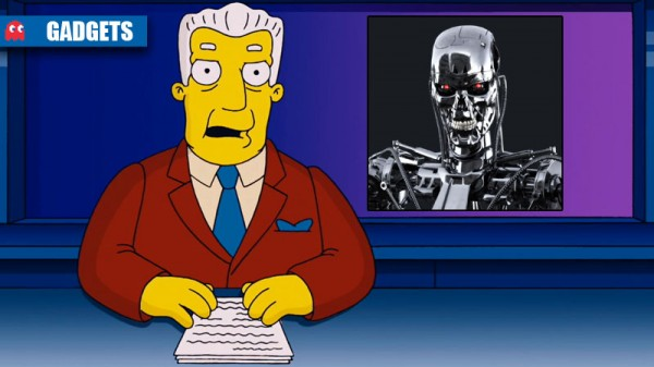 Kent Brockman Terminator I for one welcome the new robot overlords