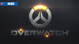Overwatch logo on steel background