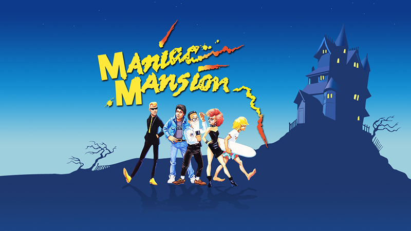 Maniac Mansion - Image courtesy of Classic Gaming (http://www.classicgaming.cc/pc/maniacmansion/wallpaper/wp_cover_1280x1024.jpg)