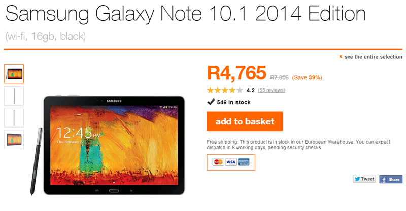Tech Deals - Samsung Galaxy Note 10.1