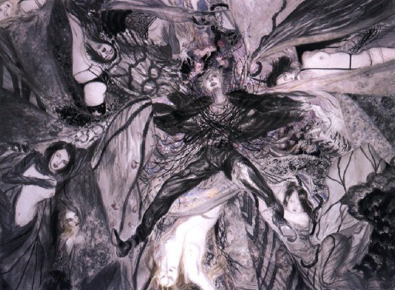 Yoshitaka Amano - David Bowie Art - The Return of the Thing White Duke