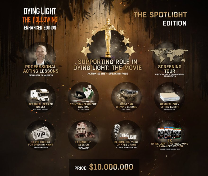 Dying Light: The Following - $10 million collector's edition