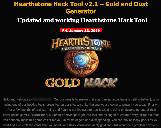 Hearthstone Hack Tool - Gold and Dust Generator