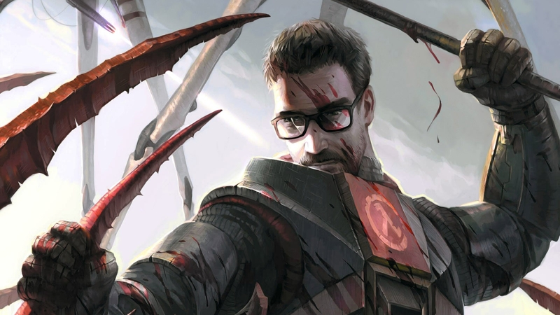 Half-Life 2 Gordon Freeman with crowbar