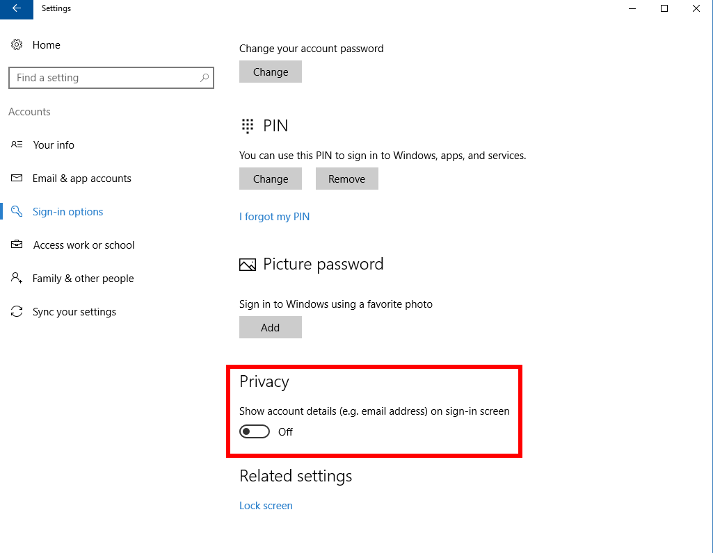 how to stop windows 10 login screen