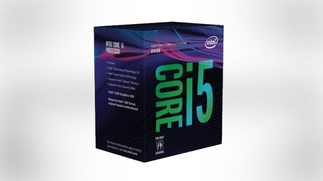 Intel Core i5 8th gen VR